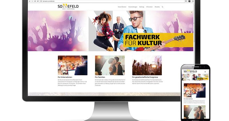 Domäne Webseite online